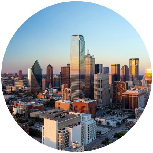 Cityscape of downtown Dallas